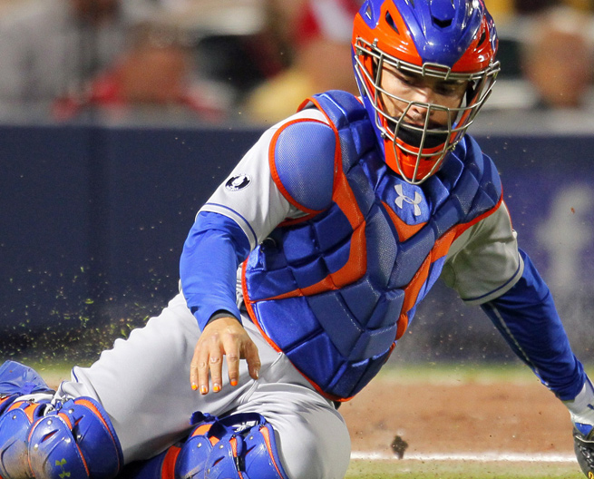 Travis d'Arnaud is hitting .196/.274/.314 with three homers in 114 plate appearances this season.