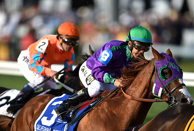 At the Preakness, California Chrome followed a familiar gameplan, breaking late to win.