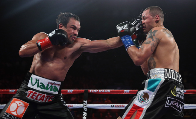 Juan Manuel Marquez helped give the refurbished Forum a show with his battering of Mike Alvarado.
