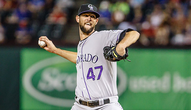 Just a couple years ago, Chris Martin was working for UPS and Lowe's. Now he's a Rockies reliever.