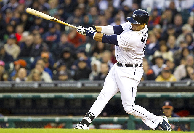 Victor Martinez has already hit ten home runs this season, compared to just nine strikeouts.