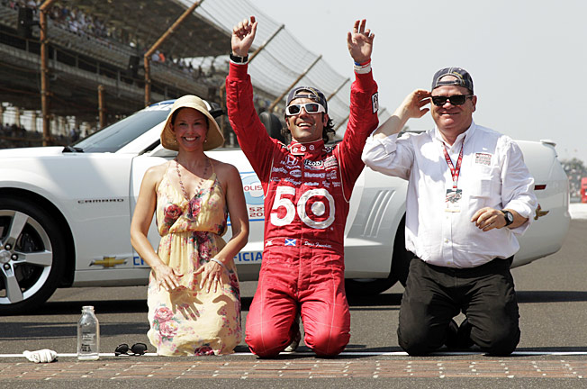 Two years after winning the Indy 500, Dario Franchitti has returned, a crash having ended his career.