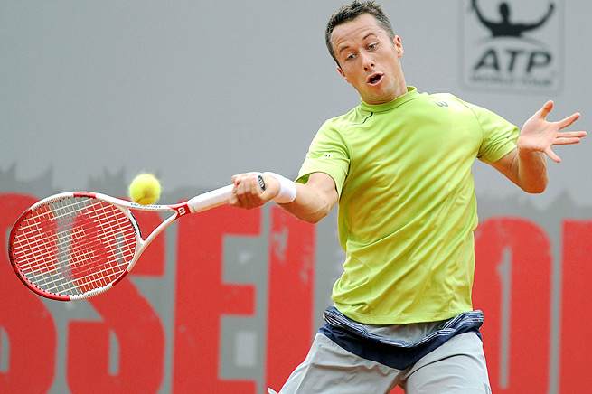 Philipp Kohlschreiber won a set against Novak Djokovic in the third round of the Italian Open.