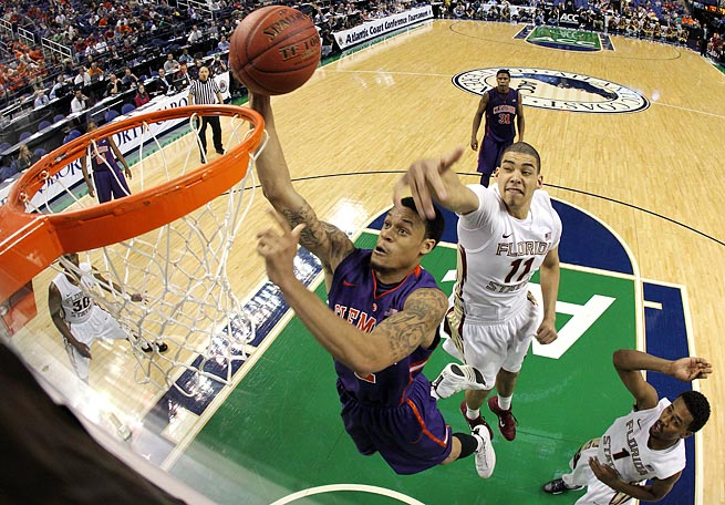 Small forward K.J. McDaniels improved his production across the board as a junior at Clemson.