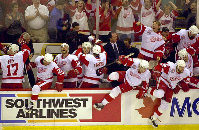 At the final horn, it was jubilation at the Joe as the Red Wings vanquished the Carolina Hurricanes, 3-1, in Game 5, capturing Detroit's third Stanley Cup in its past six seasons.