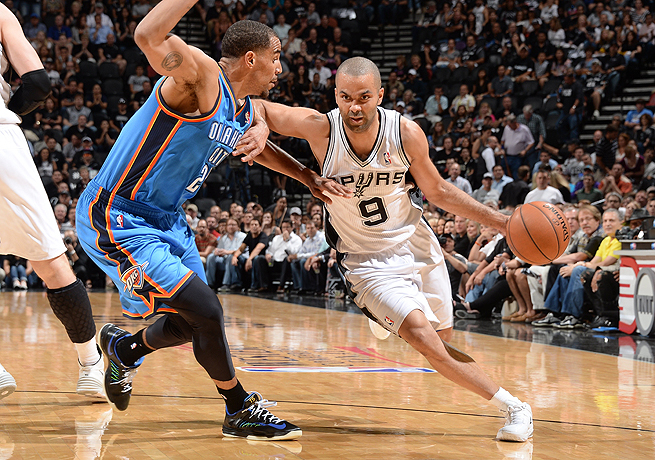 Once again, Tony Parker (right) and the Spurs were too much for the undermanned Thunder to handle.