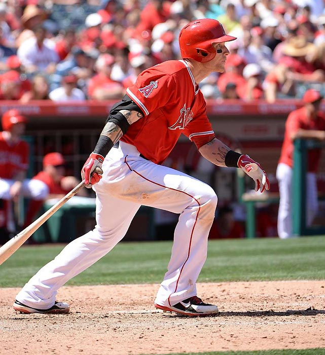Josh Hamilton is the Angels' rightfielder, but he has played center more than either of the corner positions in his career and started three of his five All-Star games in center, so we have no qualms about using him to fill that position here. Like Wieters, Hamilton appeared to be bouncing back from a lousy 2013 season in April, getting off to one of the season's hottest starts, but that lasted just eight games before he tore the UCL in his left thumb on a head-first slide into first base (he was still out by a foot), an injury which required surgery. Like Kipnis, Hamilton is expected to be activated on May 26, but he will have missed 41 games by that point. <bold>Honorable mention:</bold> Colby Rasmus