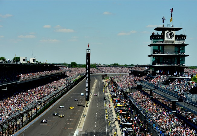 Indy Speedway basked in glorious sunshine, but track temperatures topped 110 degrees.