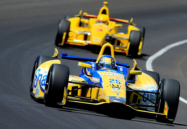 Marco Andretti (front) finished third as teammate Ryan hunter-Reay claimed Sunday's Indianapolis 500.