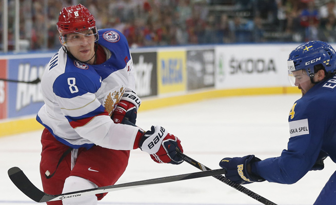 Alex Ovechkin finished with four goals and 11 points in nine games for Russia at the Worlds.