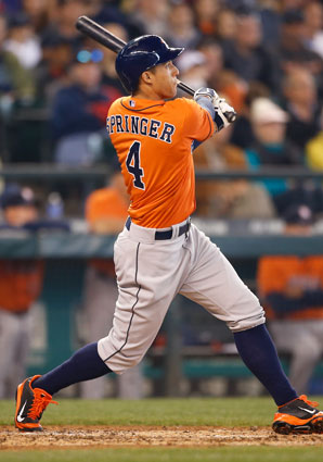 After a slow start, Astros OF George Springer has four home runs in his last three games.