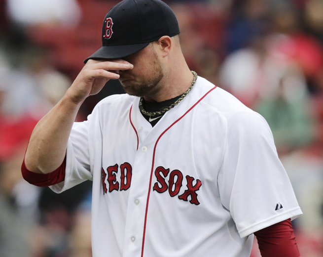 Jon Lester can't bear to watch as the Red Sox slide to 26th in this week's Power Rankings.