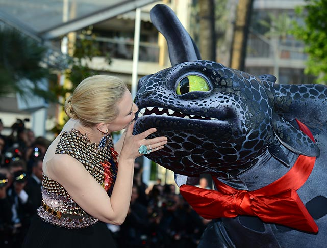 The world-renowned actress brought the buss to the <italics>How To Train Your Dragon 2</italics> premiere at the Cannes Film Festival in Cannes, France. Salmon is also often found in Cannes, which leads us to...