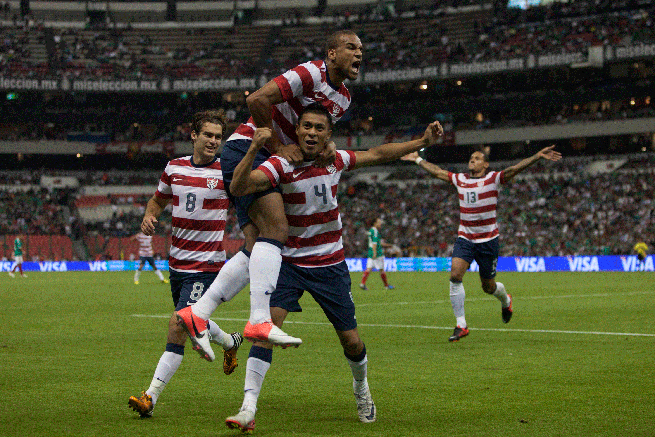 Michael Orozco's game-winning goal at Estadio Azteca emitted celebrations from U.S. players and fans alike.
