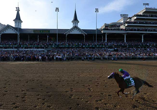 At the Derby, Espinoza did not go to the whip to coax extra speed from California Chrome in the stretch.