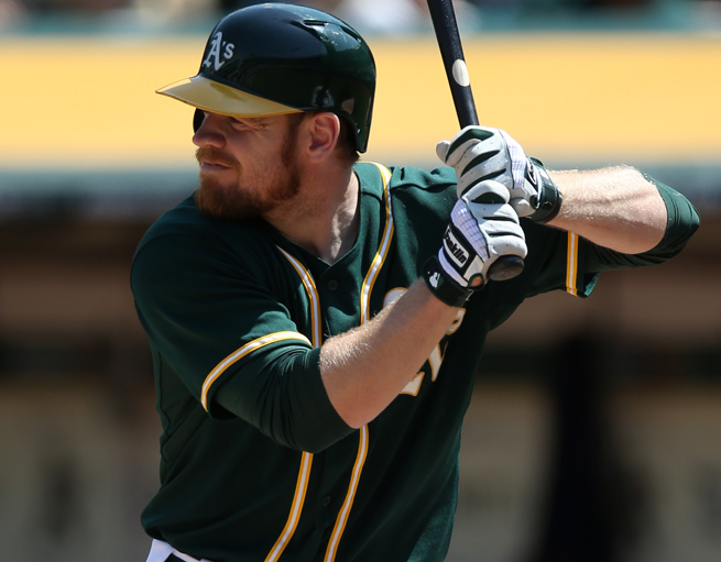 Brandon Moss is second on the Athletics in home runs with 12 and has the highest OPS on the team.