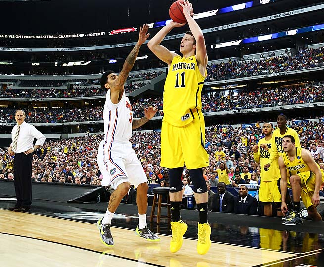 An elite shooter, Nik Stauskas went 6-of-6 on threes against Florida in the 2013 NCAA tournament.