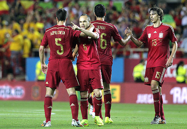 Spain defeated Bolivia despite missing key players who played in the Champions League Final.