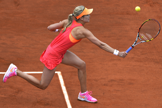 Eugenie Bouchard jumped up to a 5-0 lead against Angelique Kerber and never looked back.