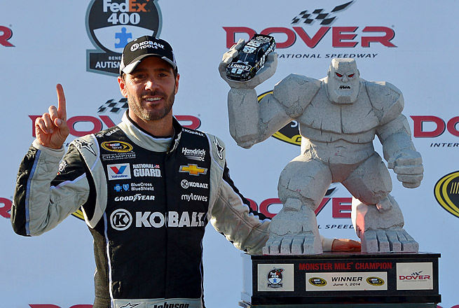Jimmie Johnson had another sensational run at Dover, extending his track victory record to nine.