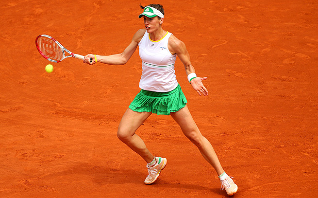 Andrea Petkovic is into the quarterfinals at the French Open for the first time since 2011.