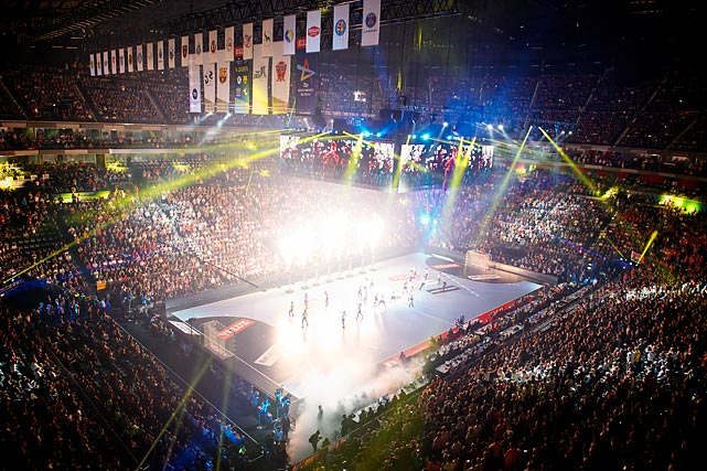 Cologne Lanxess Arena during the opening cermenoy before the third-place game on June 1.