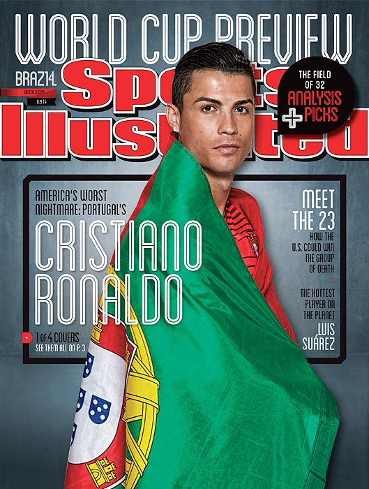 June 9, 2014  |  There is no small effort involved in getting the three best soccer players in the world (Lionel Messi, Cristiano Ronaldo and Luis Suárez) and the captain of the U.S. national team (Clint Dempsey) on the cover of Sports Illustrated magazine in the same week. But that's exactly what SI did for our World Cup 2014 preview issue, which features four different covers, all of which are mixed evenly in the distribution of magazines to subscribers and newsstands this week. It's a historic moment for soccer in SI, the 19th time the sport has appeared on the cover of the magazine since it started being published weekly in 1954. Messi, Ronaldo and Suárez are making their first appearances on the cover, while Dempsey is on the front for the second time.
