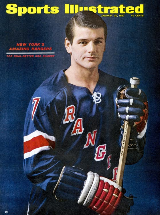The club's all-time leader in goals (406), power-play tallies (108) and game-winners (50), and the only player in franchise history to top 1,000 points as a Ranger (1,021), Gilbert was always a fan favorite during his 16 seasons on Broadway (1962-78). An eight-time All-Star, and the winner of the 1975-76 Masterton Trophy for perseverance and dedication to hockey, he had his number 7 hung from the rafters at Madison Square Garden in 1979 and was inducted into the Hockey Hall of Fame in 1982.