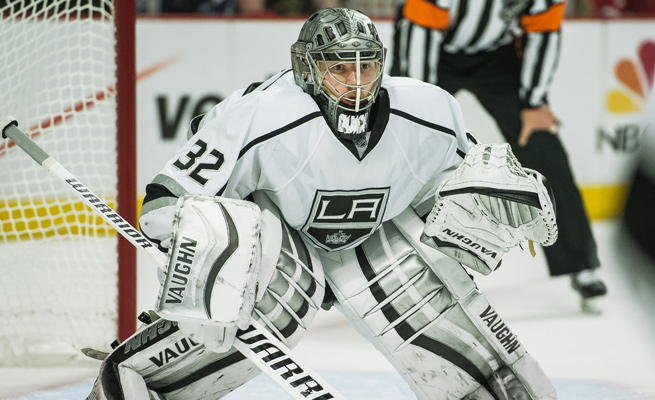 Jonathan Quick is 12-9 in the 2014 playoffs with a 2.86 GAA and .906 save percentage.