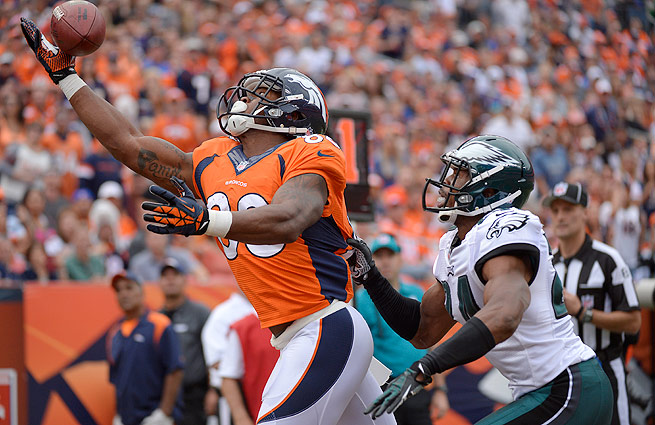 Demaryius Thomas led all wide receivers with 14 touchdown receptions last season.
