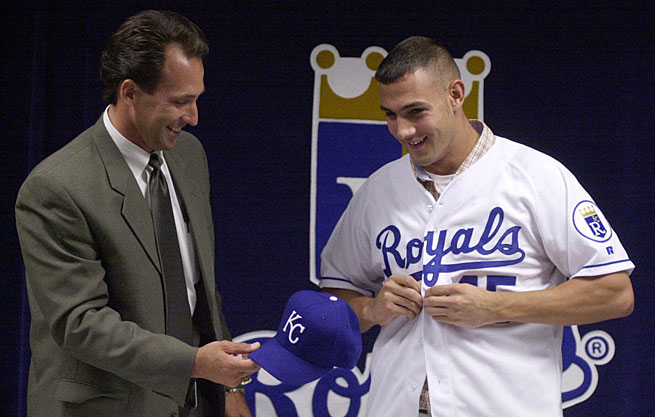 Colt Griffin slid on a Royals jersey after being drafted ninth overall in 2001 but he never wore one in the majors.