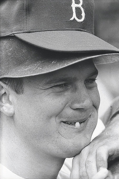 Zimmer at Ebbets Field, wearing a couple of hats before a game with the Pittsburgh Pirates. The 1957 season was the Dodgers' last in Brooklyn before moving cross-country to Los Angeles.