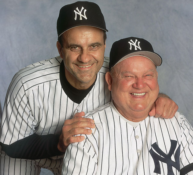 Zimmer poses with Joe Torre. In 1999, Zimmer filled in for Torre while the manager recovered from prostate cancer, leading the team to a 21-15 record in the first 36 games of the season.