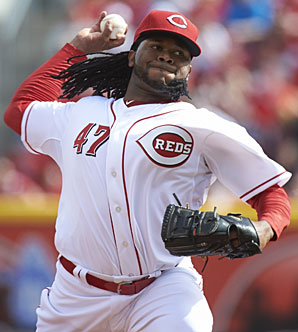 Johnny Cueto, now in his seventh season, is having a career-year across the board.