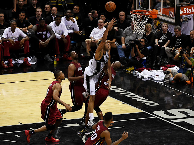 Duncan and the Spurs managed only 20 points and committed nine turnovers in the third quarter, and Miami led 78-74 heading to the fourth.