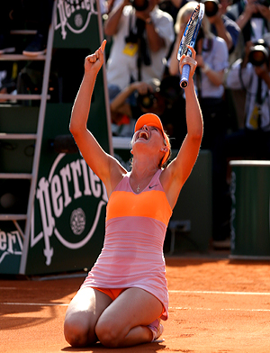 This is Maria Sharapova's second French Open title and fifth Grand Slam win.