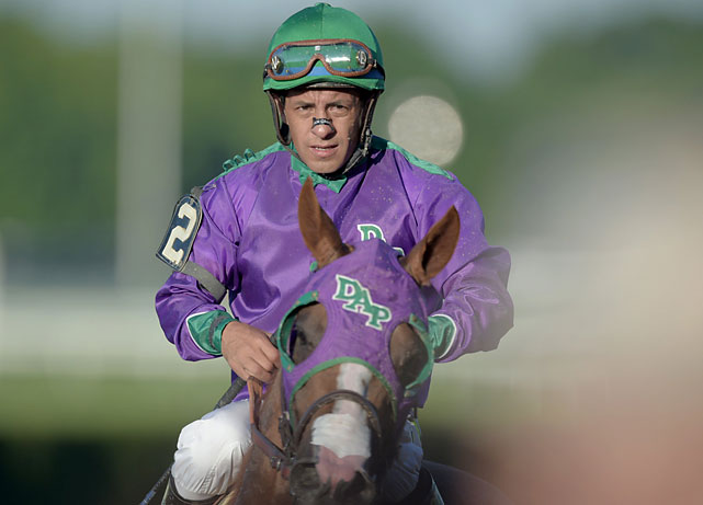 Victor Espinoza lost his second chance at a Triple Crown. He was aboard War Emblem in 2002, when that colt stumbled at the start of the Belmont and lost all chance.