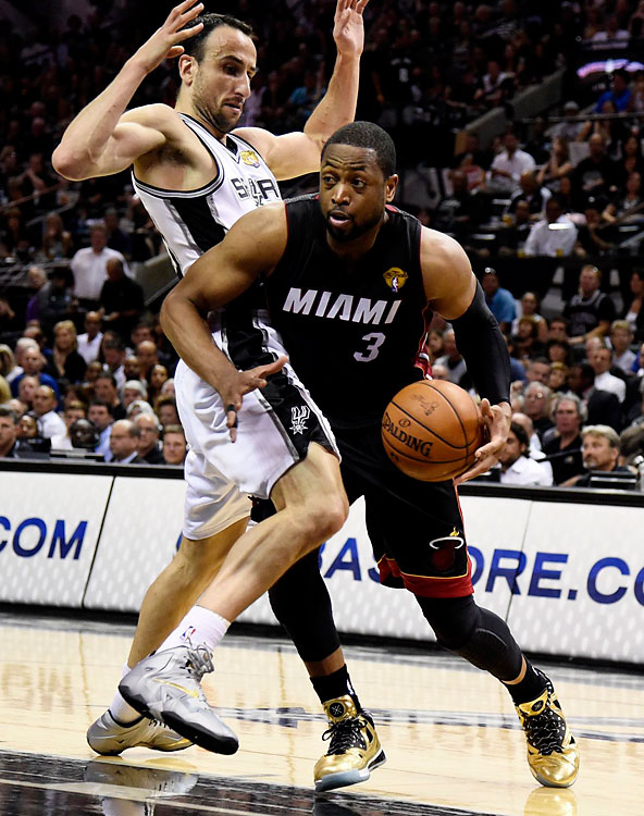 Dwyane Wade scored 14 points for the Heat, who have won five straight series after dropping the opening game.