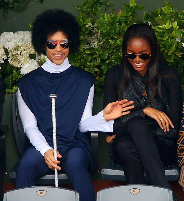 His Royal Purpleness bestowed his most righteous blessings upon the great unwashed while Rafael Nadal and Dusan Lajovic butted heads in the French Open.