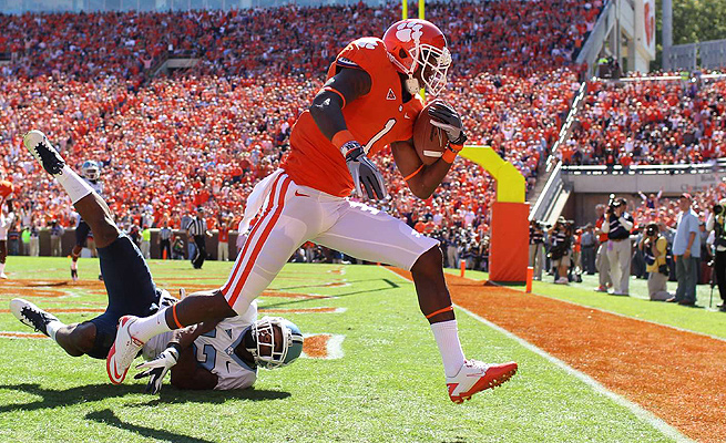 Martavis Bryant set an FBS record with 22.2 yards per reception over three seasons at Clemson.