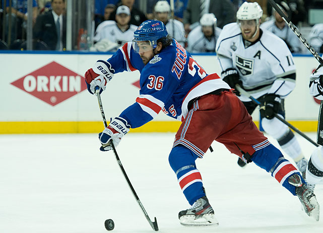 Mats Zuccarello faced an empty net at the left post with 7:24 remaining, yet he was stopped by Quick's lunging stick.