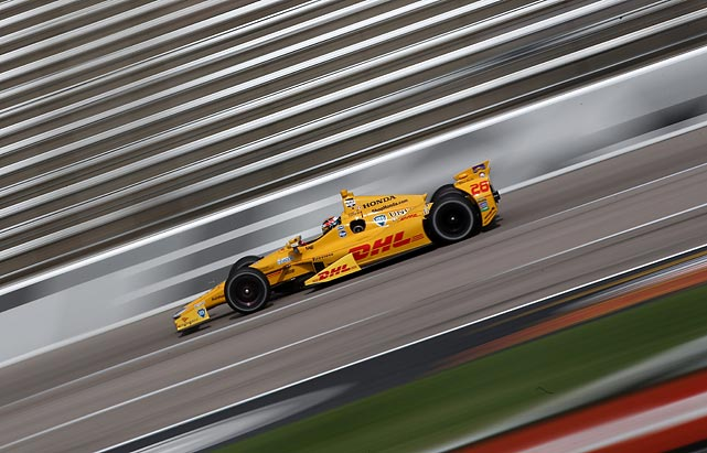 Ryan Hunter-Reay takes a lap in preparation for the Verizon IndyCar Series Firestone 600 in Fort Worth, Texas.