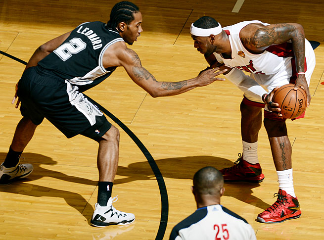 Kawhi Leonard, who takes pride in his defense, has guarded LeBron James throughout the Finals.