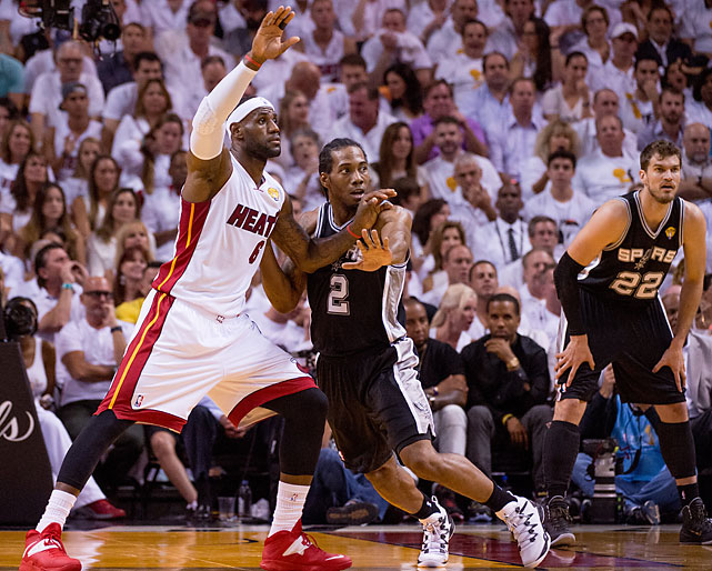 Kawhi Leonard turned in another spirited effort in defending LeBron James.