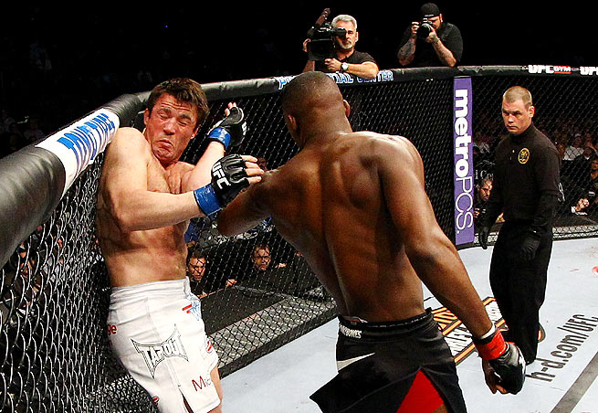 "Chael Sonnen came close to a surprising upset in his bout against Jon ""Bones"" Jones."