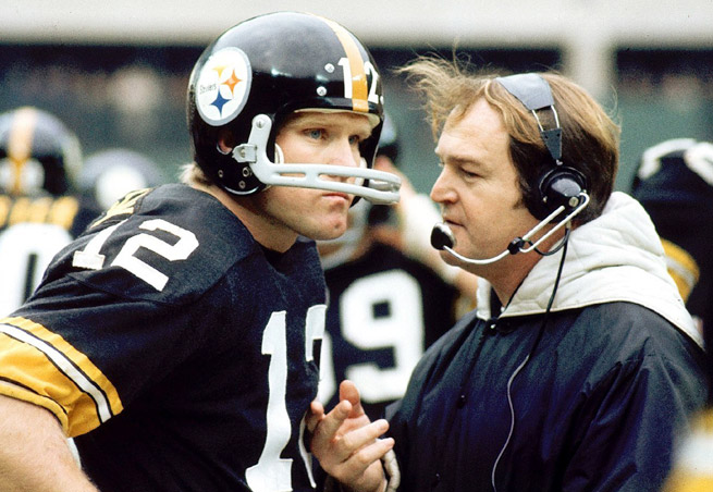 Hall of Famer Chuck Noll won a NFL record four Super Bowls with quarterback Terry Bradshaw.