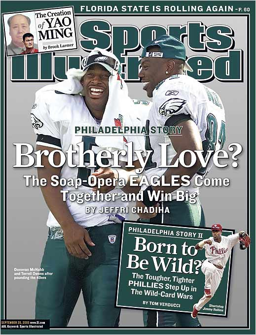 T.O. saw to it that this couple and this team was in trouble long before they landed on SI's cover. Still, how could we not include this one in the mix?