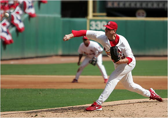 Carpenter had a big year in '05, which almost landed him the Cy Young award. The ace of the Cardinals staff had a record of 21-5 with an ERA of 2.83, a WHIP of 1.06 and 213 strikeouts.