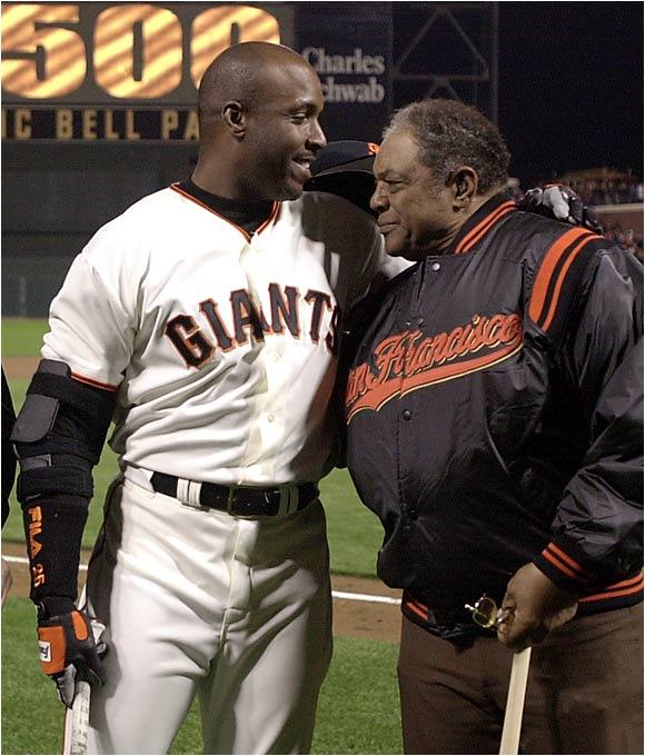 No. 500 was especially sweet, because Bonds got to celebrate the milestone with his godfather, Giants Hall of Famer Willie Mays.