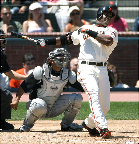 Bonds went 17 at-bats and 24 plate appearances between Nos. 714 and 715, finally passing Babe Ruth with a two-run shot off Colorado's Byung-Hyun Kim.